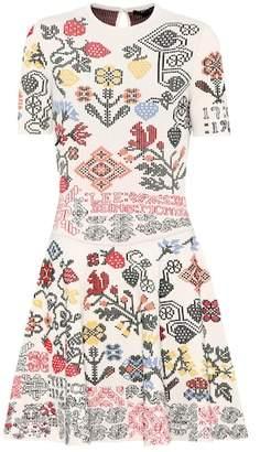 Alexander McQueen Silk-blend dress