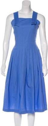 MAISON KITSUNÉ A-Line Sleeveless Midi Dress