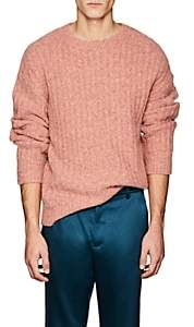 Sies Marjan Men's Rib-Knit Alpaca-Blend Sweater-Rose