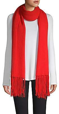 Saks Fifth Avenue Women's COLLECTION Cashmere Core Rib-Knit Scarf