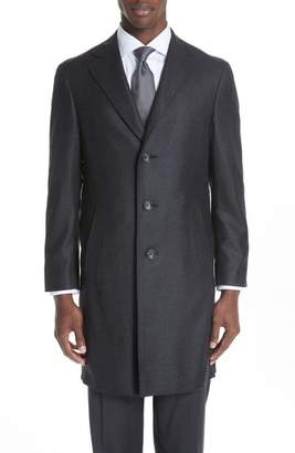Canali Solid Wool Top Coat