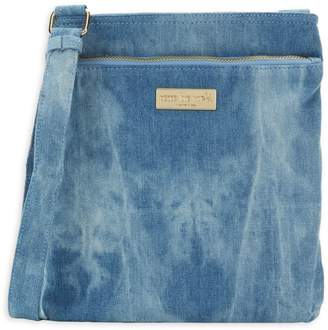 Peace Love World Denim Crossbody Bag