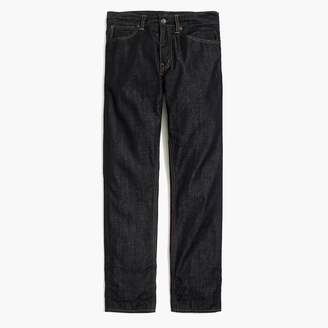 J.Crew Straight-fit flannel-lined jean in rinse wash