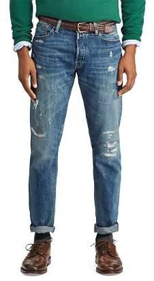 Polo Ralph Lauren Varick Slim Straight Jeans in Blue