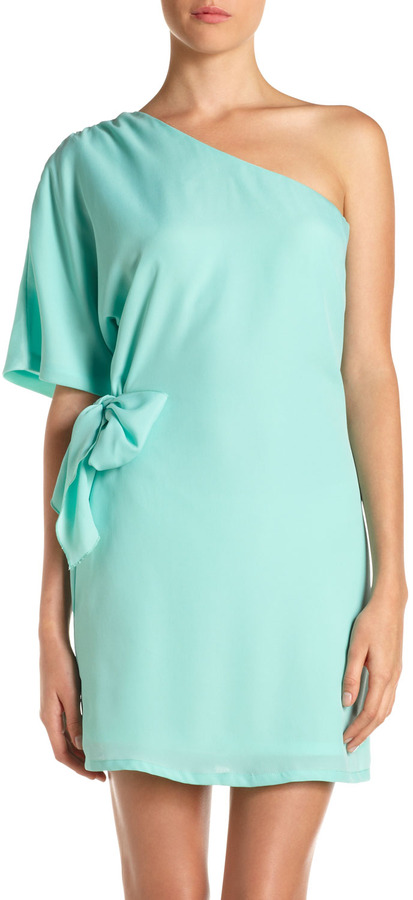 Julie Brown JB by One-Shoulder Tie-Waist Dress