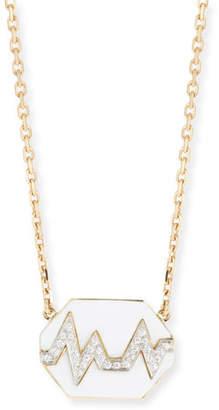 David Webb 18k Skip Necklace w/ Enamel & Diamonds