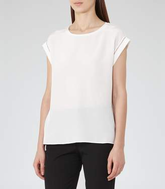 Reiss Gina Silk-Front Top