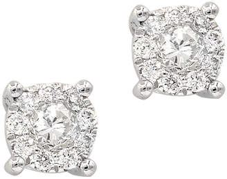 Neiman Marcus Diamonds 18k Diamond Stud Earrings, 0.2tcw