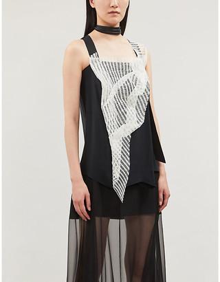 OMER ASIM V-neck sleeveless silk top