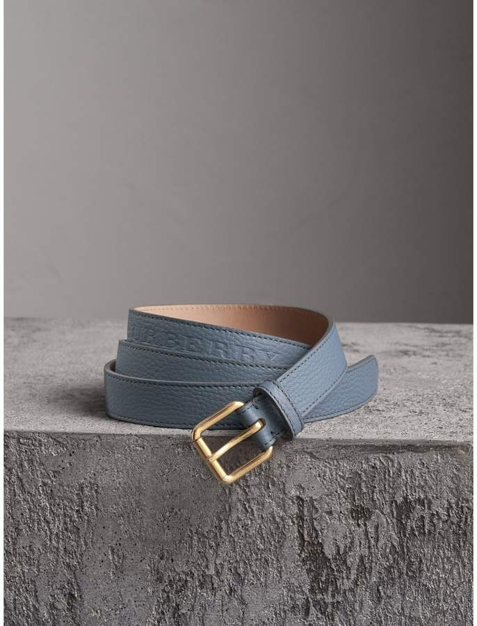 Burberry Embossed Leather Belt