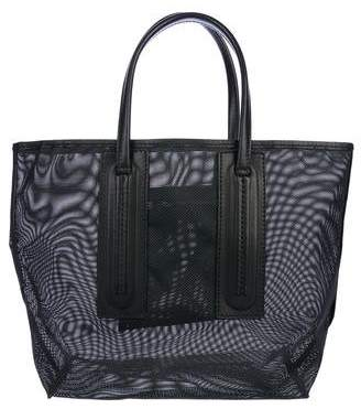 Rick Owens Leather-Trimmed Mesh Tote