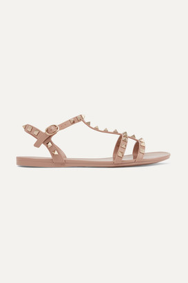 Valentino Garavani The Rockstud Rubber Sandals - Blush