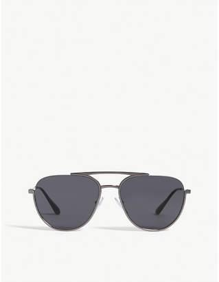 f41bdf5fcc3a Prada Womens Silver Pr50U Pilot-Frame Sunglasses