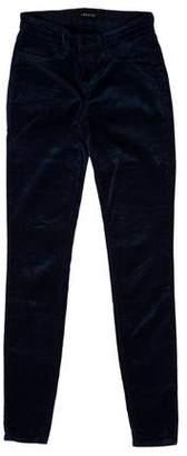 J Brand Velvet Low-Rise Jeans