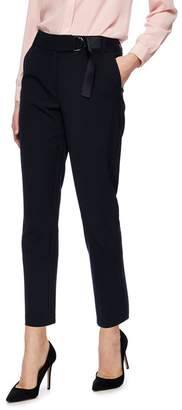 at Debenhams Principles Black Tapered D Ring Belted Trousers