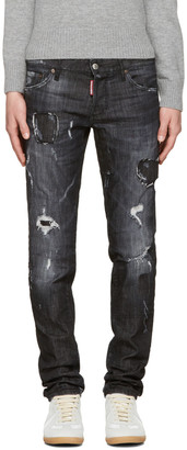Dsquared2 Black Slim Jeans $650 thestylecure.com