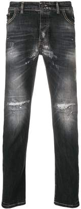 Frankie Morello distressed slim fit jeans