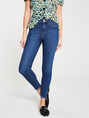 River Island Molly Mid Rise Skinny Jegging-mid Blue