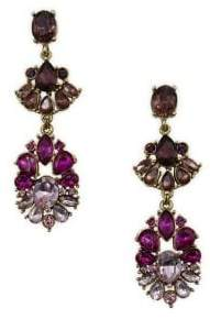Badgley Mischka Belle by Pink Ombre Stone Cluster Linear Earrings