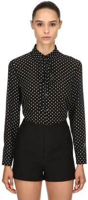 RED Valentino Polka Dots Silk Crepe De Chine Shirt
