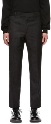 Paul Smith Black Wool Jacquard Cropped Trousers