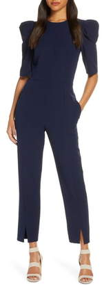 Maggy London Puff Sleeve Jumpsuit