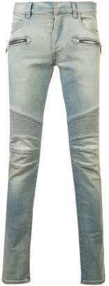 Balmain slim fit biker jeans