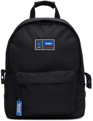 ADER error Black Twin Shoulder Backpack