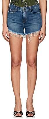 L'Agence Women's Ryland Denim Cutoff Shorts - Blue