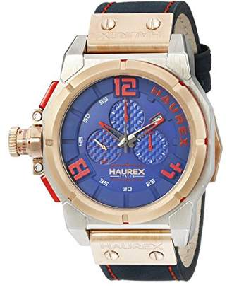 Haurex Italy Men's 6N510UBR Space Chrono Analog Display Quartz Blue Watch