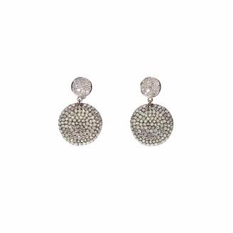 Ri Noor Two Tone Diamond Earrings