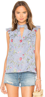 BCBGeneration Cut Out Ruffle Top