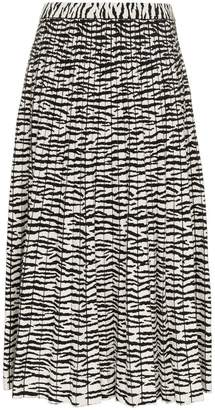 Proenza Schouler tiger print pleated skirt