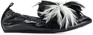 Lanvin pearl embellished ballerina shoes
