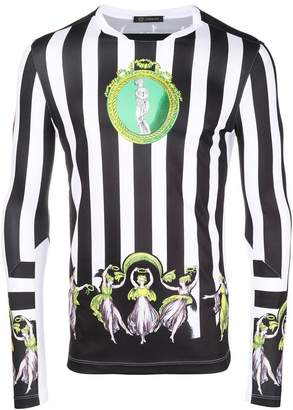Versace striped football jersey