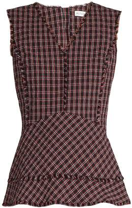 Altuzarra Ozark checked top