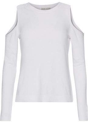Alice + Olivia (アリス オリビア) - Alice + Olivia Cold-Shoulder Knitted Sweater