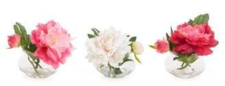 House of Hampton Peony in Glass Vase Floral Arrangement