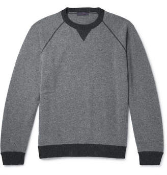 Thom Sweeney Contrast-Trimmed Cashmere And Virgin Wool-Blend Sweater