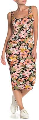 Billabong Share More Joy Floral Print Midi Dress