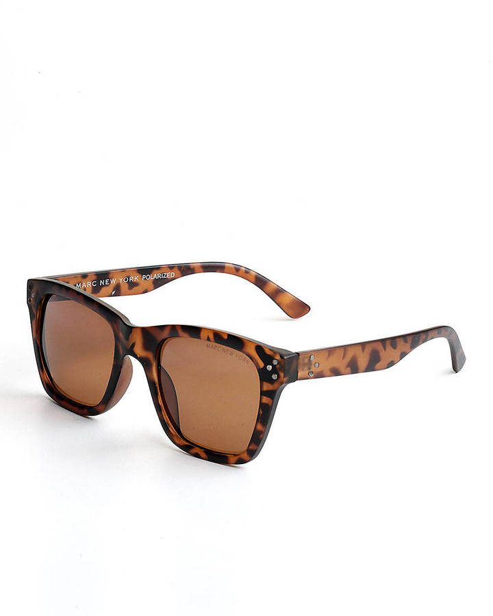 MARC NEW YORK Square Tortoise Sunglasses