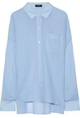 Theory Asymmetric Cotton-Gauze Shirt