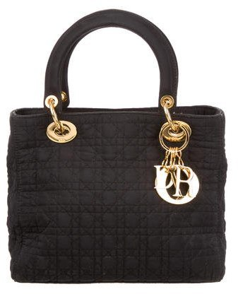 Christian Dior Nylon Medium Lady Dior Bag