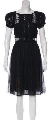Elie Saab Lace Knee-Length Dress