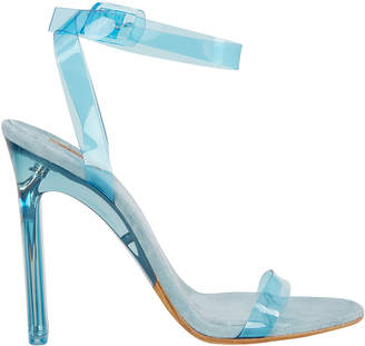 Yeezy Blue PVC Ankle Strap Sandals