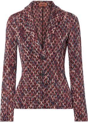 Missoni Crochet-knit Blazer - Purple