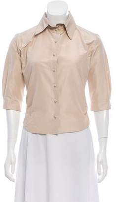 Martin Grant Pointed-Collar Button-Up Top