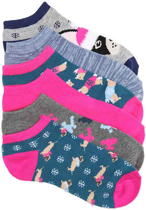 Mix No. 6 Dogs No Show Socks - 6 Pack - Women's