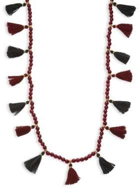 Panacea Bead Strand Tassel Necklace