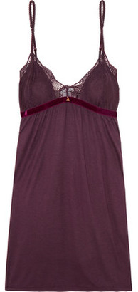 Eberjey Clarisse Lace-Trimmed Stretch-Jersey Camisole $83 thestylecure.com